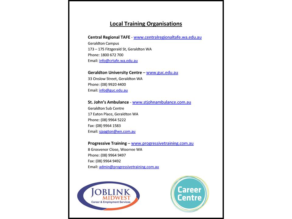 Local Training Organisations